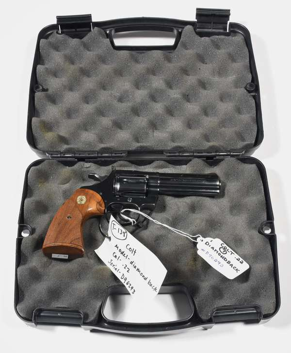 Firearm: Colt revolver, Diamondback .22 cal. serial# D96293T (T-138) (90-7)