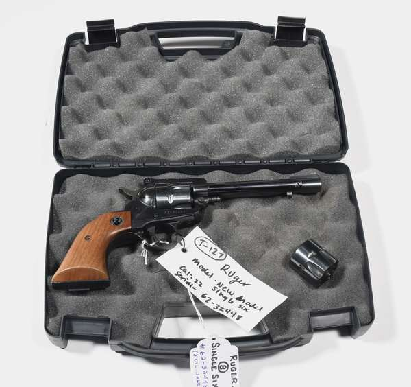 Firearm: Ruger revolver, Single six, .22 cal. serial# 62-32448, convertible with .22mag cylinder (T-127)(90-8)