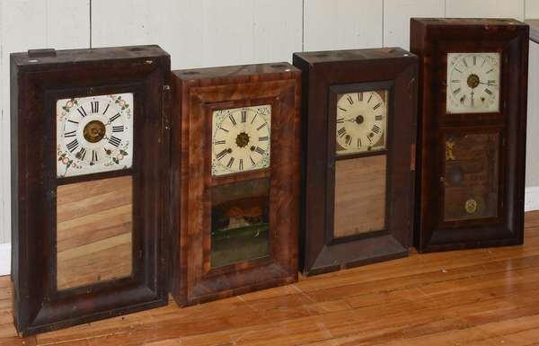Four ogee Empire clocks (23-124)