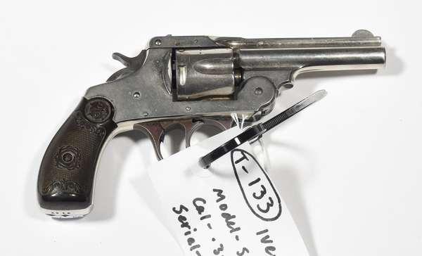 Firearm: Iver-Johnson revolver, Safety Hammer, .38 cal. serial # 9157 (T-133)(90-9)