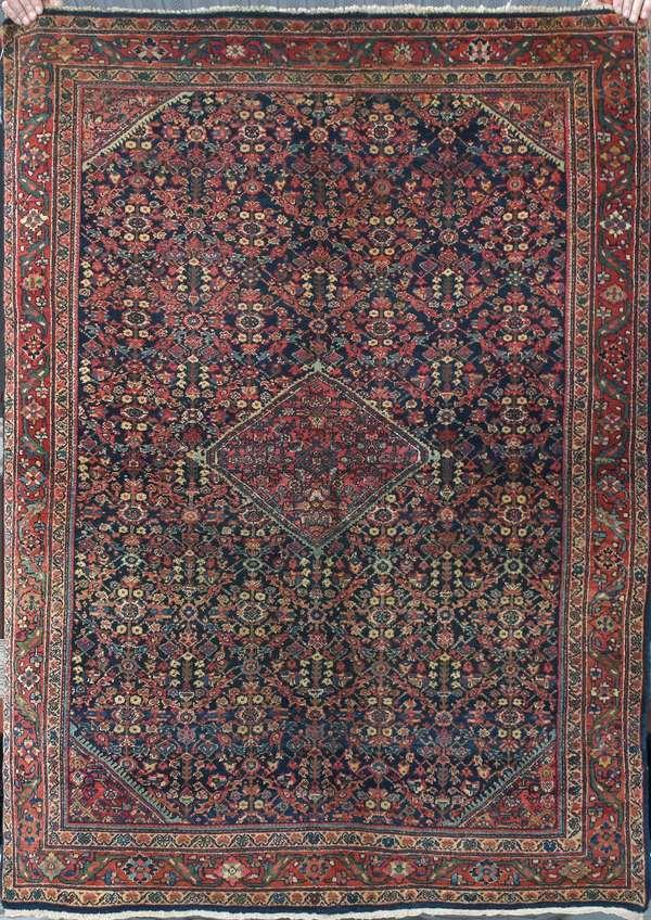 """Antique Persian rug, 6'7"""" x 6'6"""" (248)"""