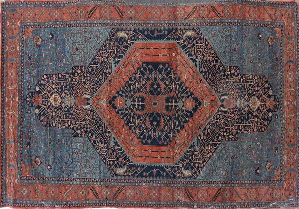 "A fine room size Oriental rug, 12' x 17'4"""