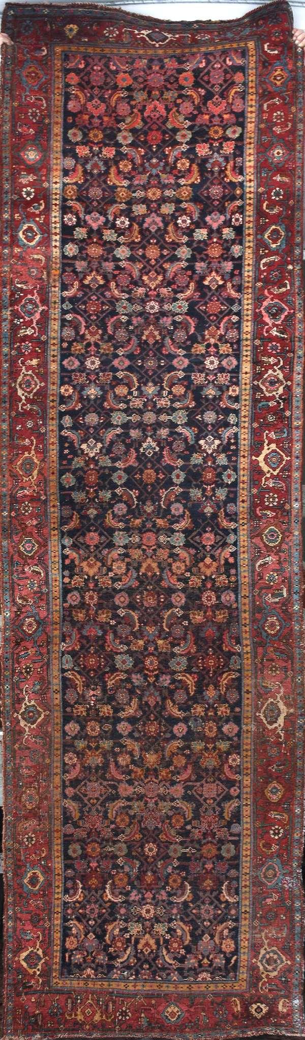 """Antique Bidjar rug, 3'8"""" x 14'4"""" (242)"""