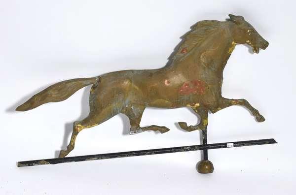 "19th C. running horse weathervane, 31""L."