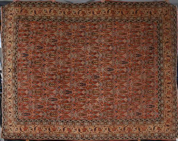 """Good contemporary Oriental room size rug, 8'9"""" x 11'2"""""""