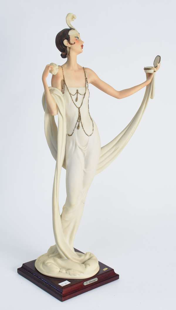 "G. Armani sculpture of a fashion girl, 18""H. (66-4)"