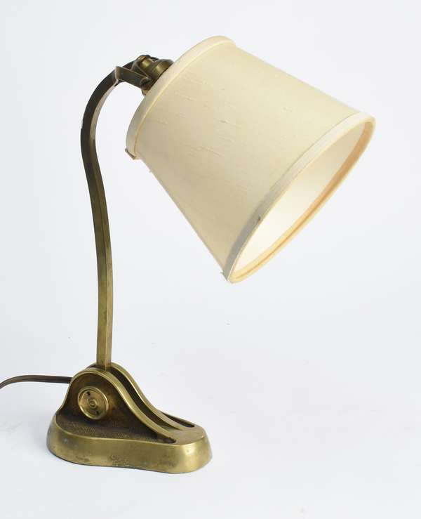"Bronze desk or wall lamp signed Bryant, 13""H (441-197)"