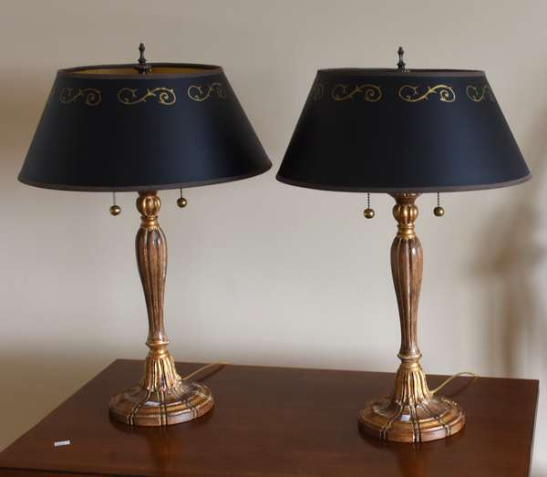 """In House"" pair of table lamps, 23""H.	(673-12)"