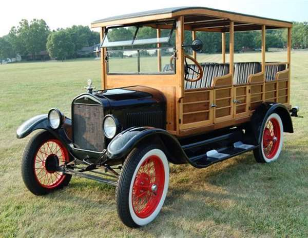 1927 Model T Hack Woody style handcrafted body in maple and oak and auto made by Ford all in wonderful condition with title. Condition: body has been off for restoration, upholstery replaced, engine original. Good running condition.