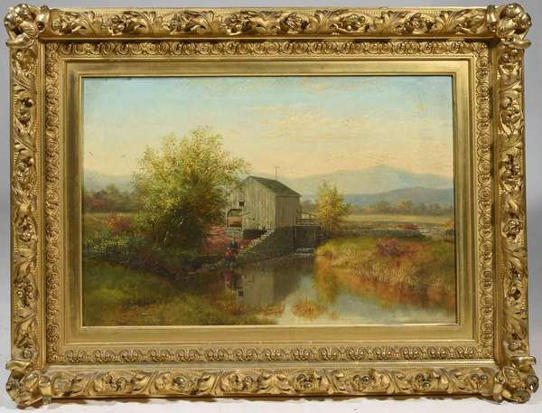 Robert Spear Dunning (American 1829-1905) oil on canvas. Signed