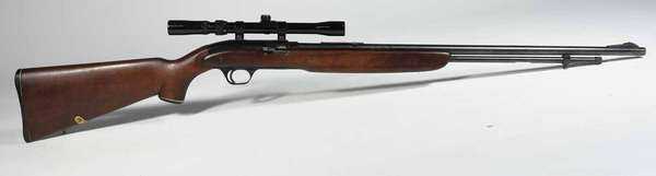 J.C Higgins model 31 rifle 22 cal. Serial # 2552429, with scope, T-156 -Condition very good. NICS background check required.