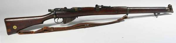 Lee Enfield 303. rifle (Boar War) ca. 1890's with bayonet, serial #2256, original strap broken. -Condition wood repairs to stock  shows wear. T 174, NICS background check required