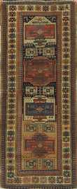 19th C. Oriental hall rug, 3'2